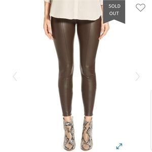 Lysee Brown Faux Leather Leggings